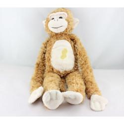 Doudou singe marron cacahuéte qui crie GIPSY