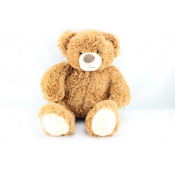 Doudou peluche ours brun tout doux GIPSY