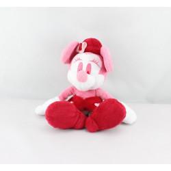Doudou Minnie rose rouge coeur DISNEY STORE