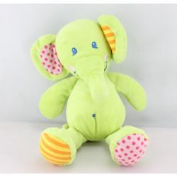 Doudou éléphant vert TILAPIN CASINO