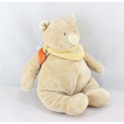 Doudou musical ours beige Tonton avec sac à dos NOUKIE'S