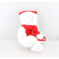 Doudou ours blanc rouge ORCHESTRA