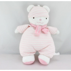 Doudou ours pyjama rose rayures luminou JEMINI