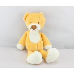 Doudou ours jaune orange NICOTOY