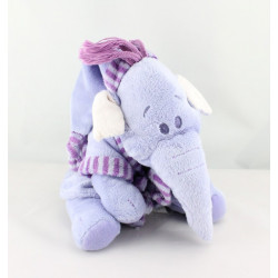 Doudou Eléphant Lumpy en peignoir Disney Nicotoy