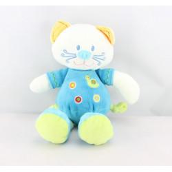 Doudou chat bleu escargot NICOTOY