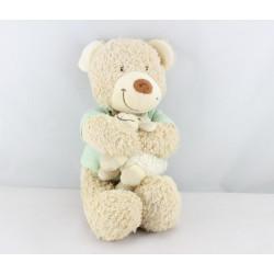 Doudou musical ours bleu vert mouton TEX