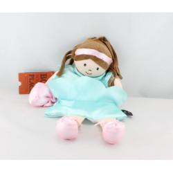Doudou marionnette poupée princesse bleu HISTOIRE D'OURS STUDIO
