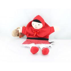 Doudou marionnette poupée chaperon rouge HISTOIRE D'OURS STUDIO
