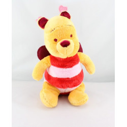 Doudou Winnie abeille papillon rouge bordeaux Disney