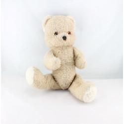 Ancienne peluche ours beige articulé