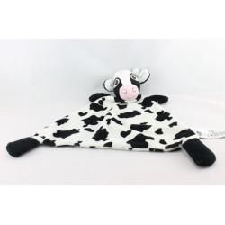Doudou plat Vache blanche tache noir HM - H.M H ET M