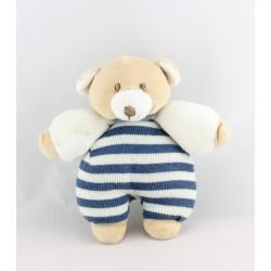 Doudou et compagnie hochet ours rayé bleu