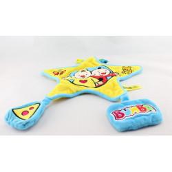 Doudou plat étoile Bumba clown jaune bleu STUDIO 100