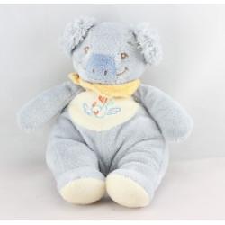 Doudou koala bleu foulard jaune NOUKIE'S
