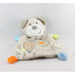 Doudou plat ours beige vichy NICOTOY