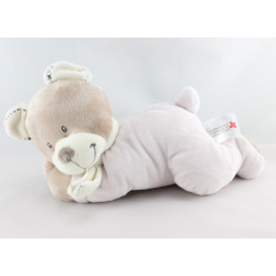 Doudou musical ours beige roseNICOTOY