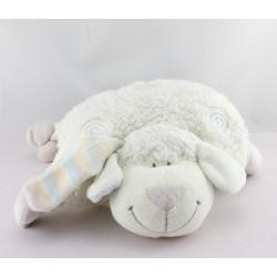 Doudou coussin mouton blanc bleu spirale KIABI NICOTOY