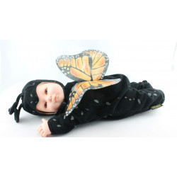Poupée papillon noir ANNE GEDDES 42 cm