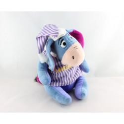 Doudou Bourriquet pyjama rayé violet DISNEY