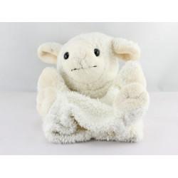 Doudou  marionnette mouton blanc tout doux DANI