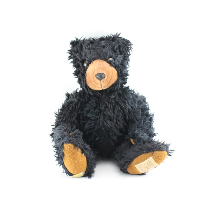 Peluche ours noir marron GIORGIO BEVERLY HILLS 1998