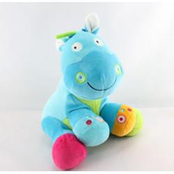 Doudou cheval poney bleu qui hennit BAWI