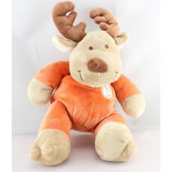 Doudou elan cerf renne beige orange VETIR NICOTOY