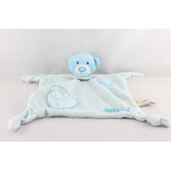 Doudouplat ours bleu BABY NAT