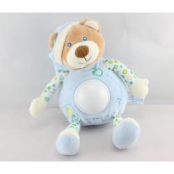 Doudou veilleuse ours bleu pommes GIPSY