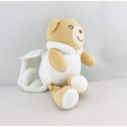 Mini Doudou ours blanc dragée attache tétine KALOO