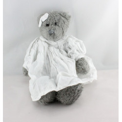 Doudou ours gris robe blanche  J-LINE