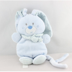 Doudou lapin bleu attache tétine BERLINGOT