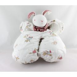 Doudou lapin blanc vichy rouge PRENATAL