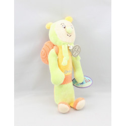 Doudou et compagnie baton pouet escargot Choco vert orange