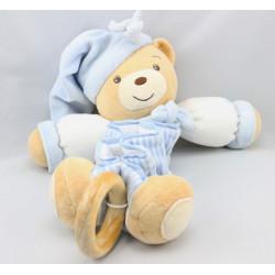 Doudou musical accordéon ours bleu rayé blue KALOO