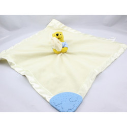 Doudou plat couverture jaune satin Winnie Disney