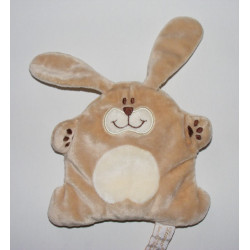 Doudou semi plat lapin beige TIAMO COLLECTION