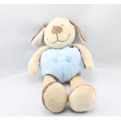 Doudou chien beige bleu marron DOUKIDOU