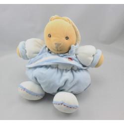 Doudou patapouf lapin bleu blue laine enfant KALOO