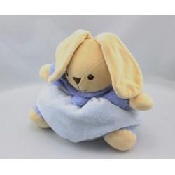 Doudou boule lapin bleu mauve NOUNOURS