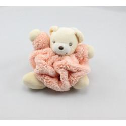 Doudou petit ours Plume orange KALOO