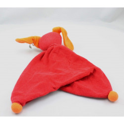 Doudou plat lapin rouge orange PEPPA