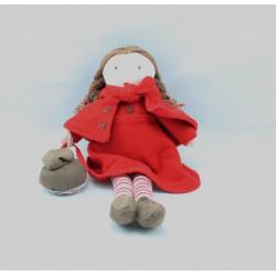Doudou poupée chaperon rouge  JACADI