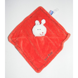 Doudou plat rouge orange papillon SUCRE D'ORGE
