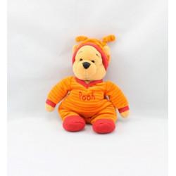 Doudou winnie pyjama rayé orange rouge DISNEY