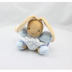 Doudou patapouf lapin bleu blanc enfant KALOO