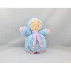 Ancienne peluche poupée bleu rose NOUNOURS