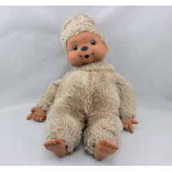 Ancienne Peluche Singe Kiki beige Vintage 30 cm