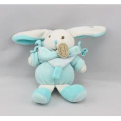 Doudou et compagnie petit lapin bleu ciel
